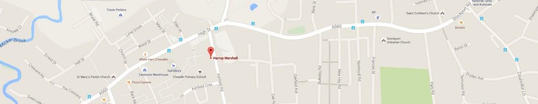 Harrop Marshal Map Location